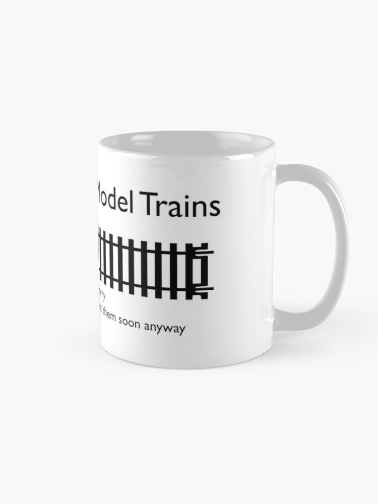 Alternate view of Ask me about Trains Design Mug
