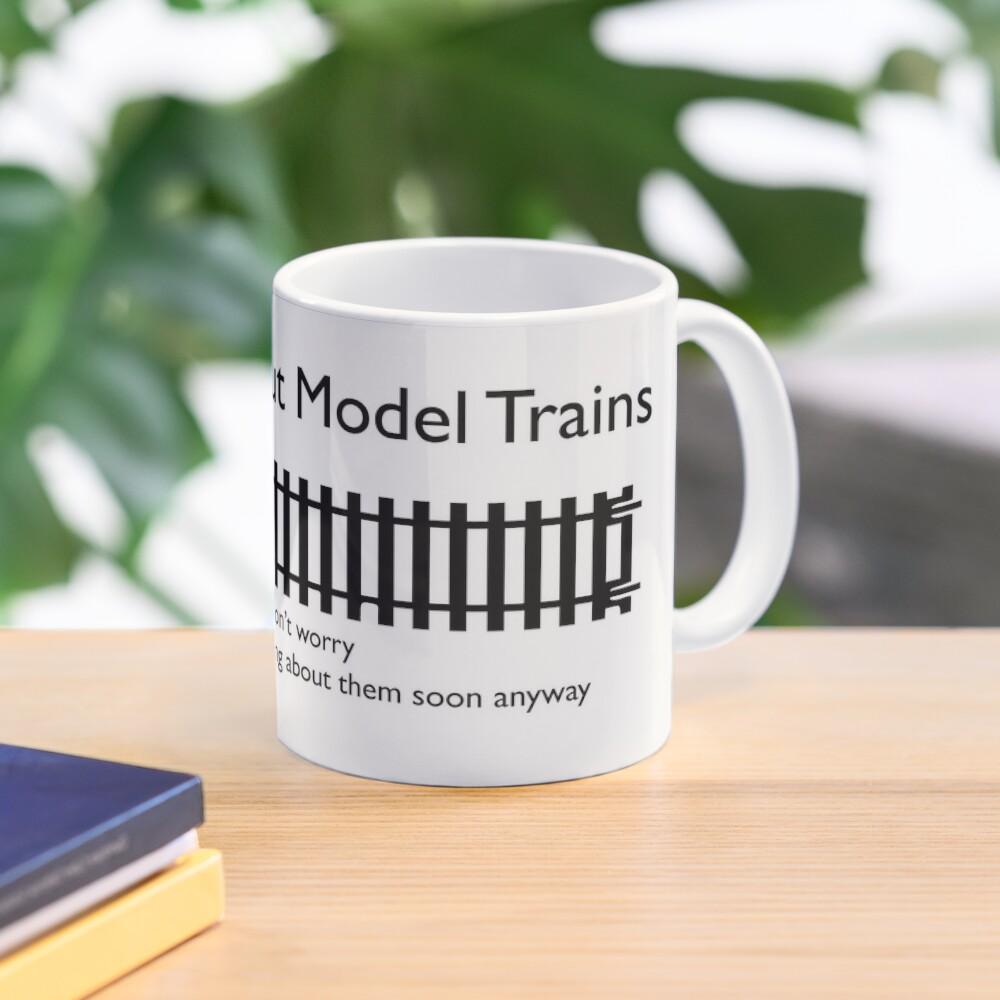 Ask me about Trains Design Mug