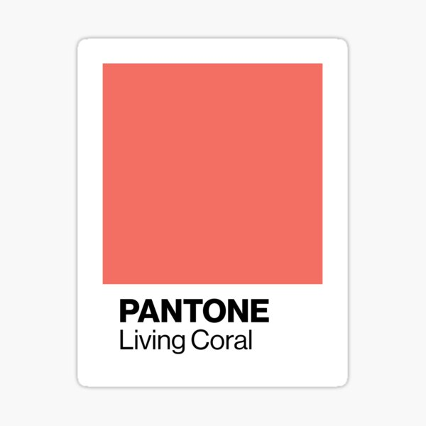 Pantone Living Coral - Color of the year 2019 Sticker