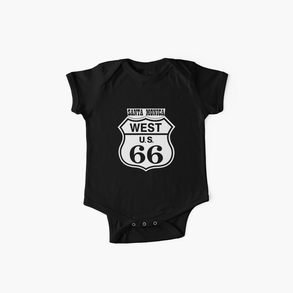 Shirts,Shirts for Men,Shirts for Women, California Route 66 Santa Monica, T shirt, Stickers,  Baby One-Piece