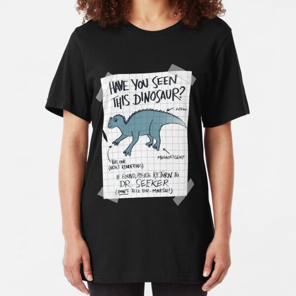 Lost Iguanodon! Slim Fit T-Shirt