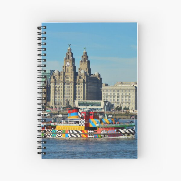 Liverpool Waterfront and Mersey Ferry Spiral Notebook