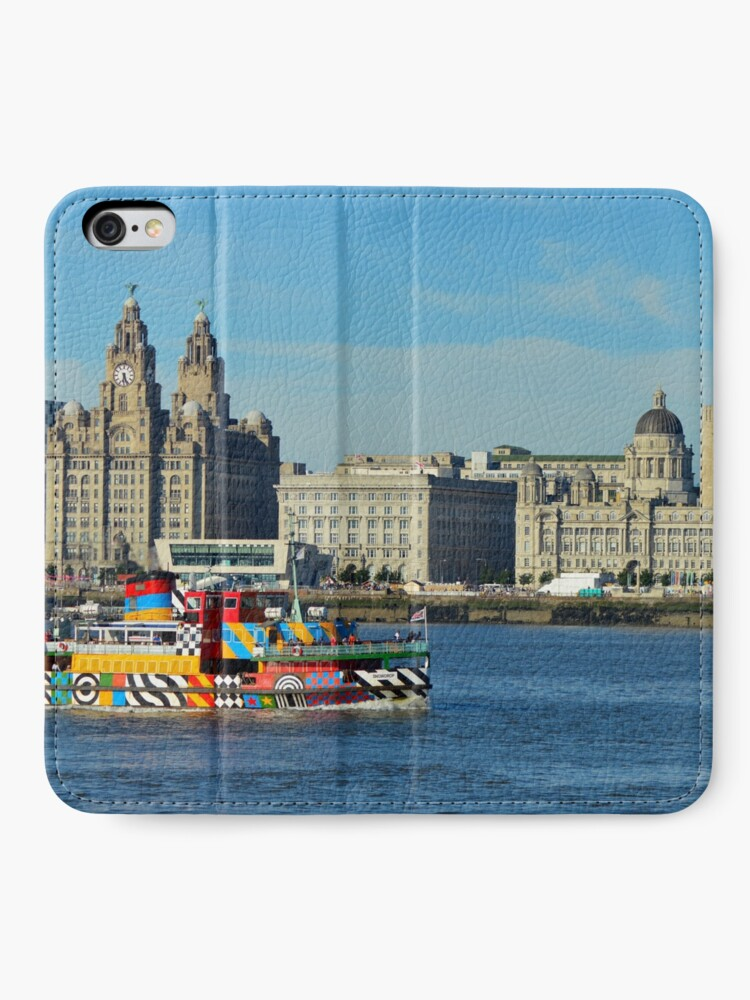 Alternate view of Liverpool Waterfront and Mersey Ferry iPhone Wallet