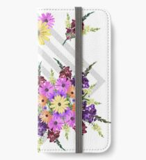 Late Summer Medley on Grey iPhone Wallet/Case/Skin