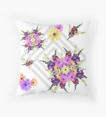 Late Summer Medley on Grey Throw Pillow