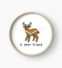 A Deer Friend Clock