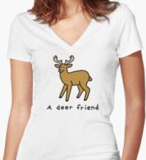 A Deer Friend Fitted V-Neck T-Shirt