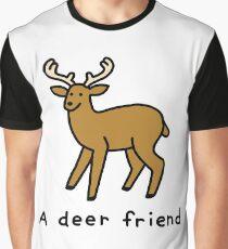 A Deer Friend Graphic T-Shirt