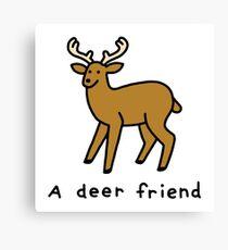 A Deer Friend Canvas Print