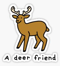 A Deer Friend Sticker