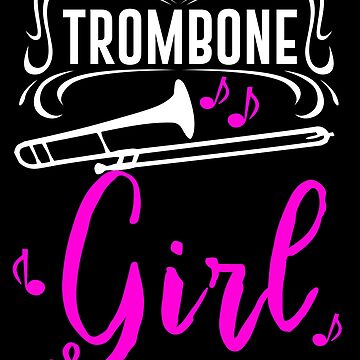 Trombone Girl Marching Band Orchestra Girls Teens by kh123856