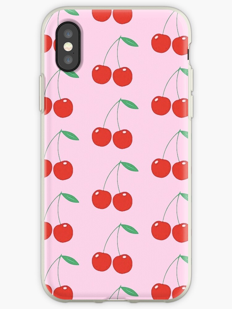 reputable site 2bbf8 42de0 'wildflower cherries pink' iPhone Case by hlncxiiiv