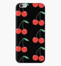 wildflower cherries black iPhone Case