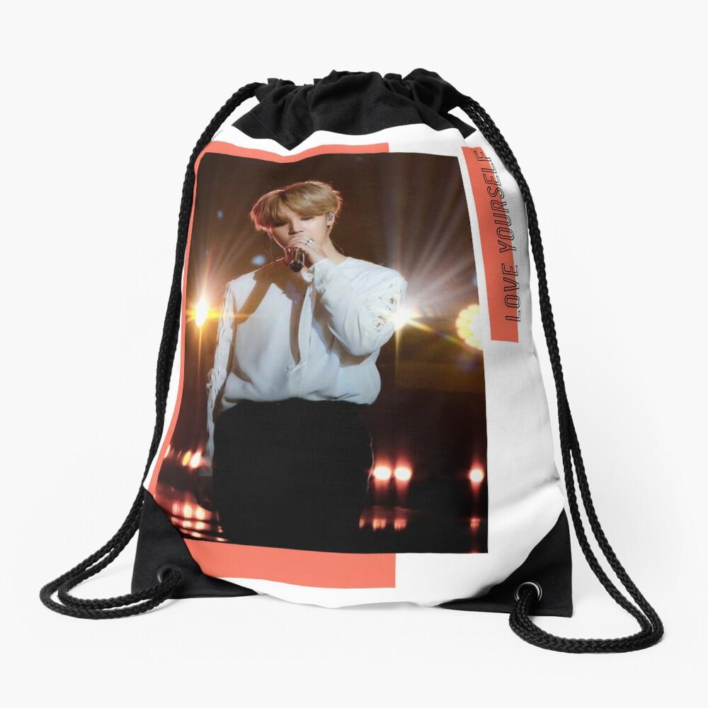 BTS Jimin Love Yourself Drawstring Bag