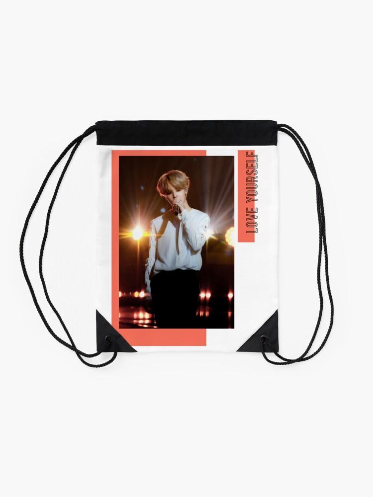 Alternate view of BTS Jimin Love Yourself Drawstring Bag