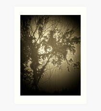 Tree & Fog Art Print