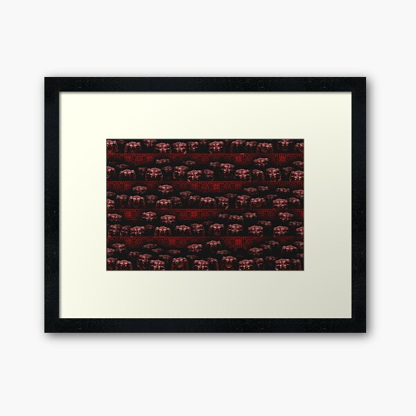 Sweater with demons from Doom Framed Art Print