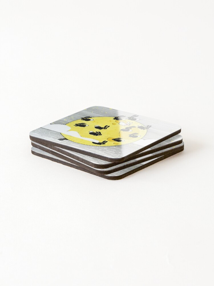 Alternate view of YELLOW Coasters (Set of 4)