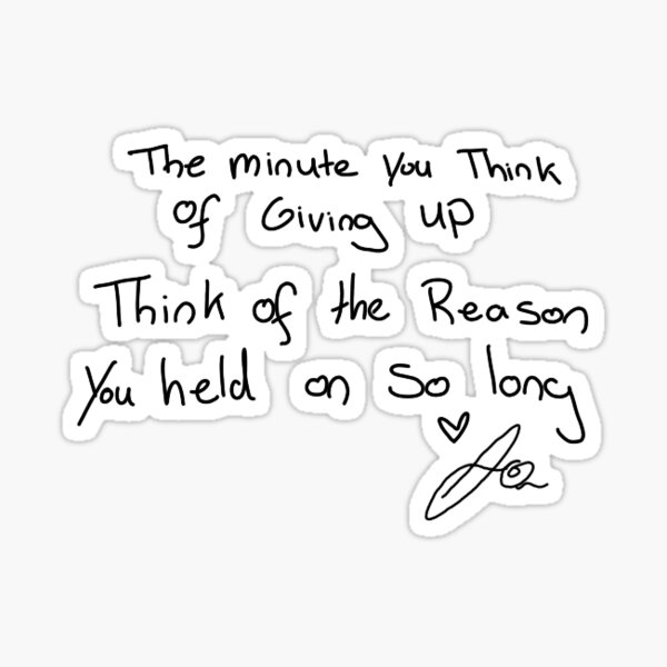 Jacksepticeye Handwritten Quote: Hold On Sticker