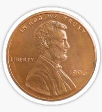 One cent Sticker