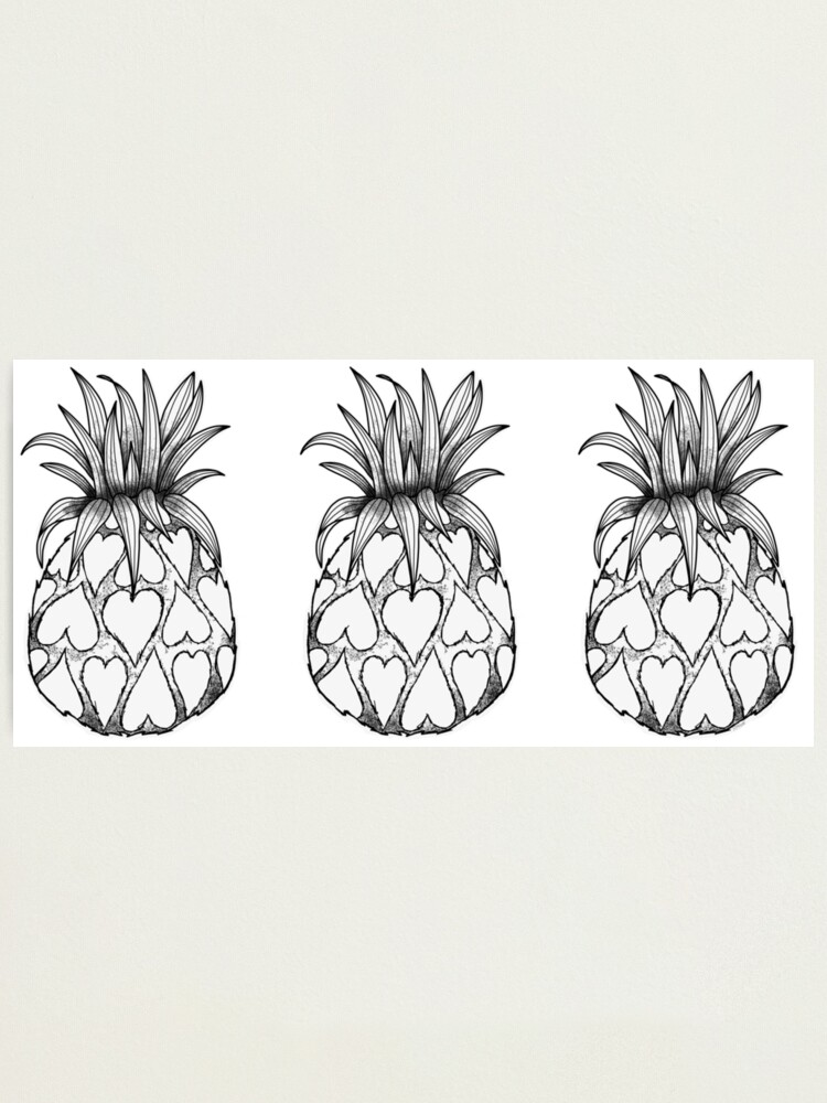 Alternate view of Just add Colour - Love Pineapple! Photographic Print