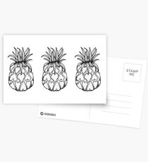 Just add Colour - Love Pineapple! Postcards