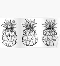 Just add Colour - Love Pineapple! Poster