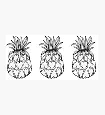 Just add Colour - Love Pineapple! Photographic Print