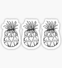 Just add Colour - Love Pineapple! Sticker