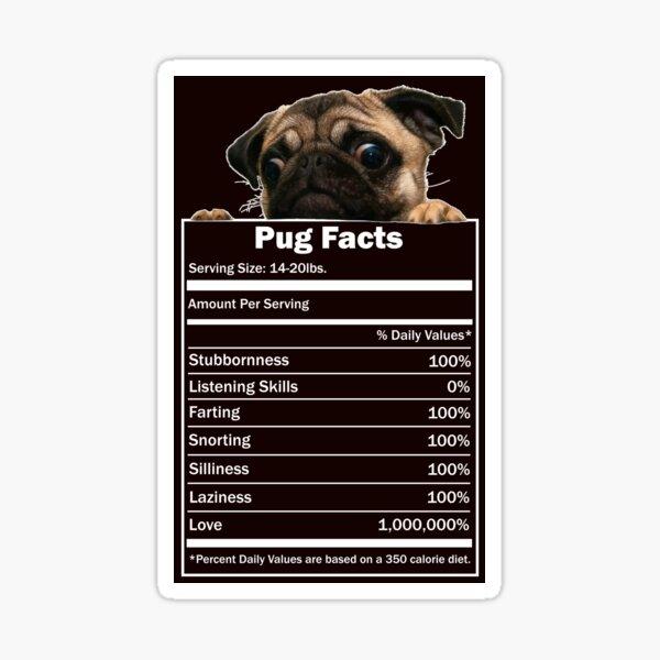 Pug Facts Sticker