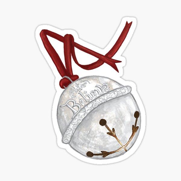 I Believe - Polar Express Bell Sticker