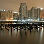 Jersey City Newport in the Snow by pmarella