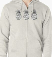 Just add Colour - Love Pineapple! Zipped Hoodie