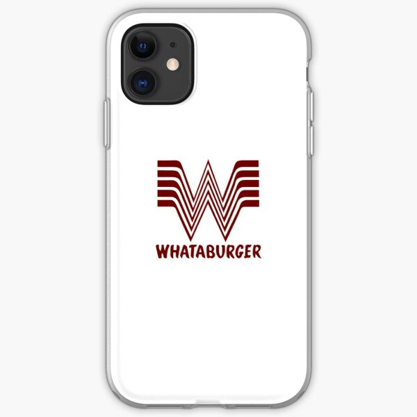 Maroon Whataburger iPhone Soft Case