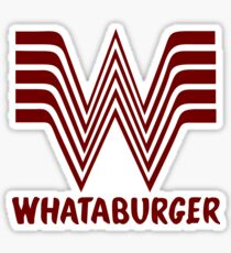 Maroon Whataburger Sticker