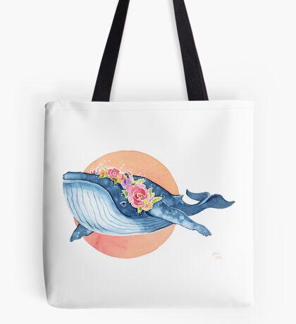 Flora Blue Tote Bag
