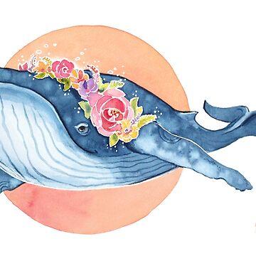 Flora Blue by Artsez