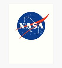 Vintage Nasa Original T-shirt design Art Print