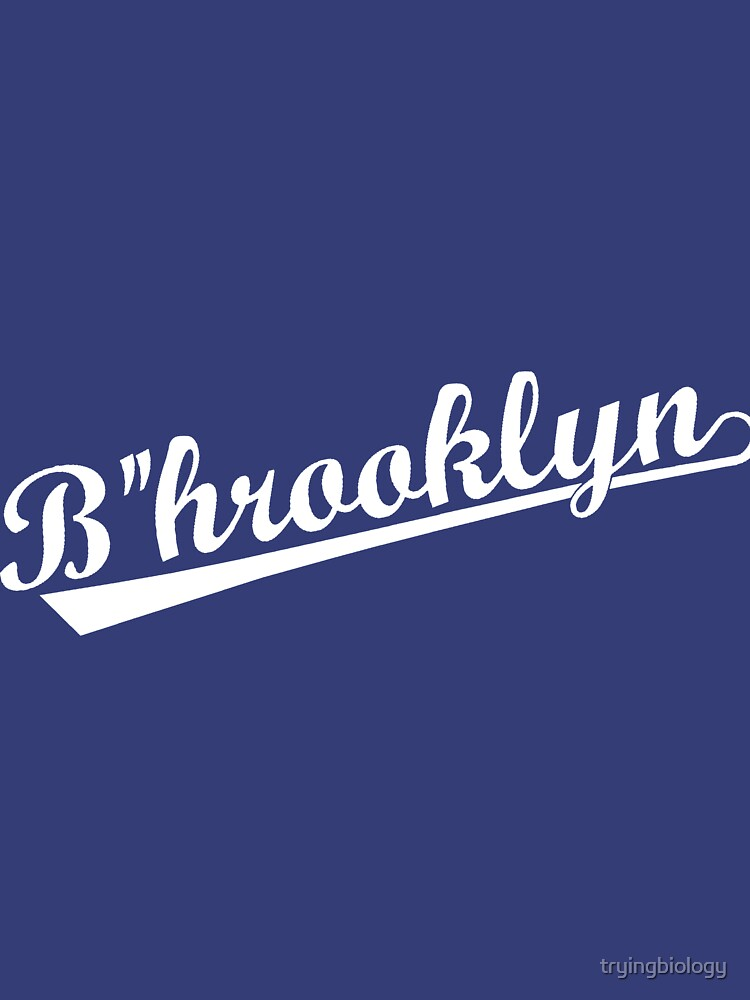 """B""""hrooklyn (White letters on blue) by tryingbiology"""
