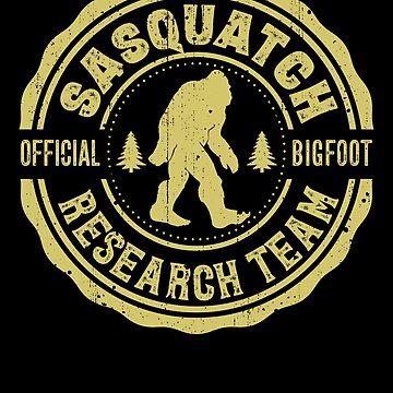Finding Sasquatch Bigfoot Research Team Squatchin Gone Shirt by LiqueGifts
