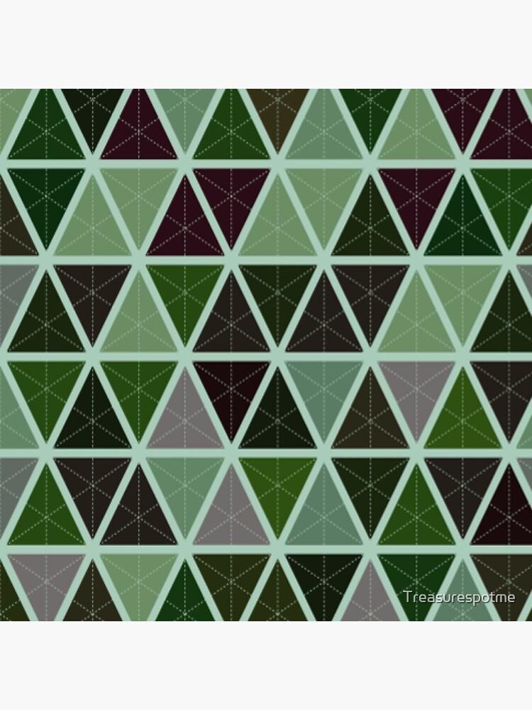 Grüne Tapeten-geometrisches Muster-Design von Treasurespotme