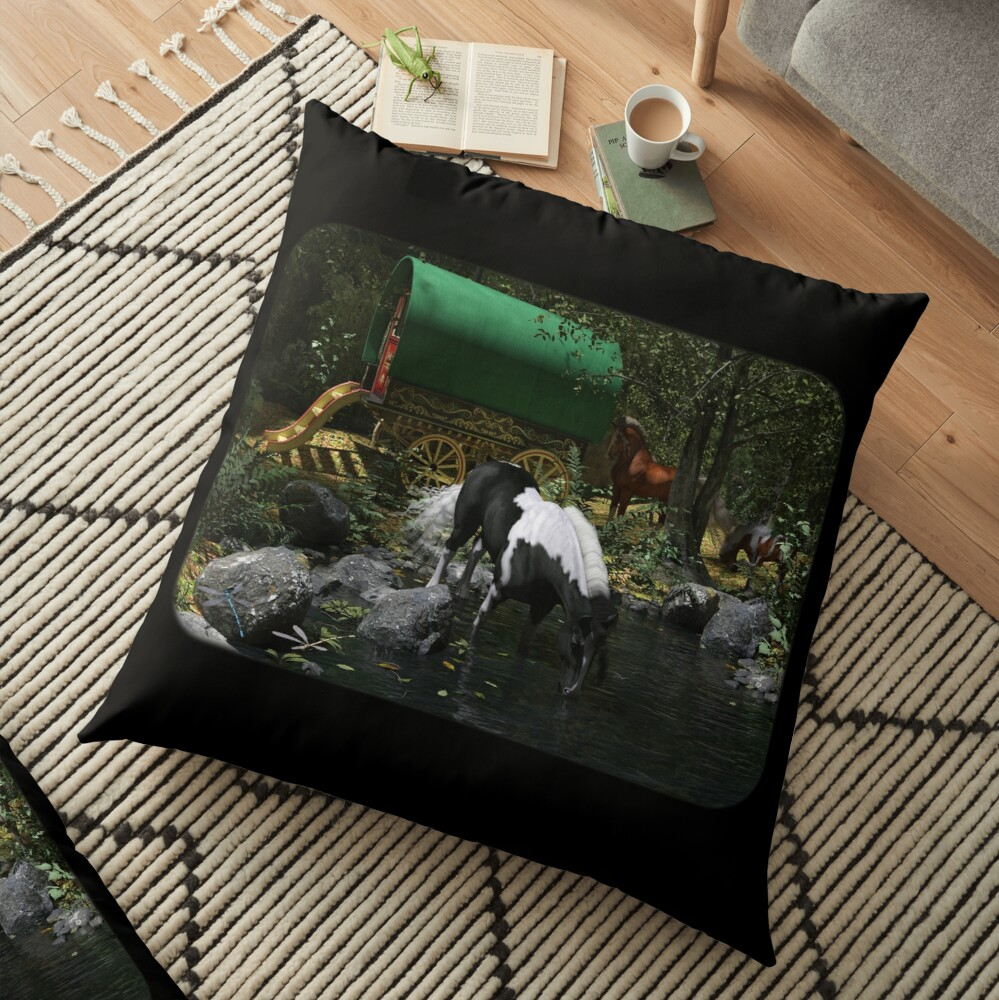 Gypsy Cob Forest Floor Pillow