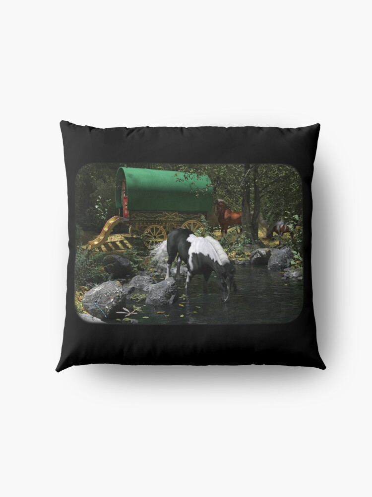 Alternate view of Gypsy Cob Forest Floor Pillow