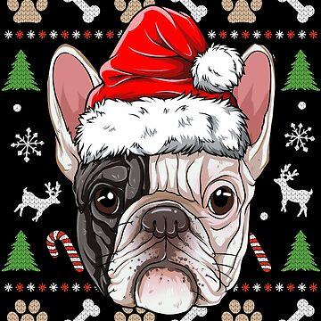 French Bulldog Ugly Christmas Shirt Santa Hat Xmas Dog Boys by LiqueGifts