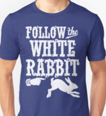 Follow The White Rabbit Alice in Wonderland T Shirt T-Shirt