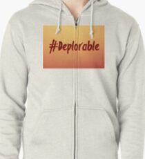 Deplorable Hashtag Zipped Hoodie