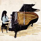 Girl At Piano by Keith Henry Brown