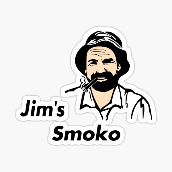 Jim's Smoko Sticker