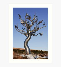 Tree sculpture, Clonroche, County Wexford, Ireland Art Print
