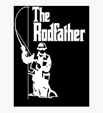The Rodfather Fishing T Shirt Photographic Print